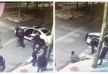 policías golpearon a dos hombres