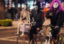 ruta del paseo nocturno en bicicleta