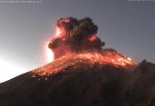 Explosión en el popocatépetl