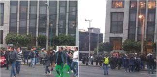 bloqueo en avenida constituyentes