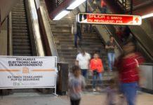 escaleras electromecánicas del Metro