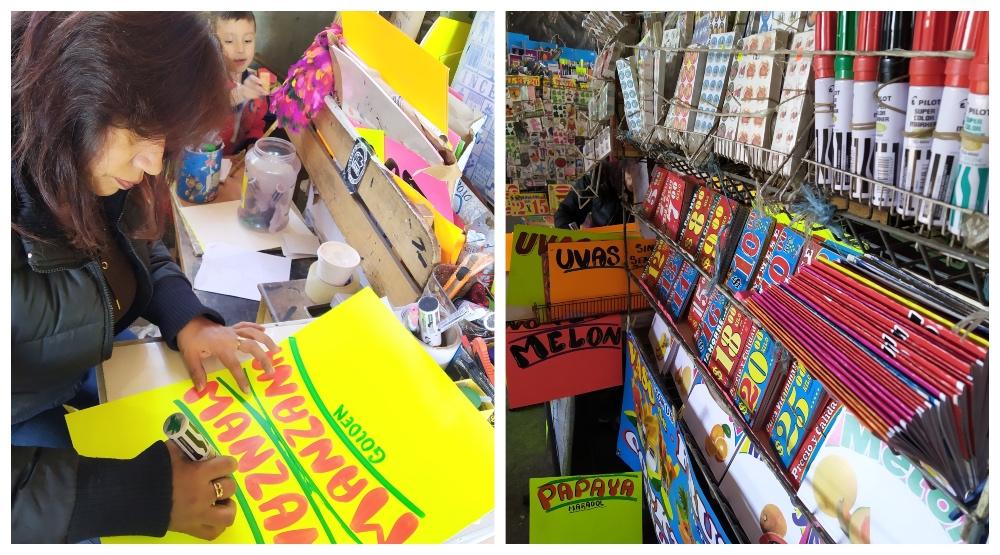 letreros de mercados