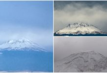 nieve en el Popocatépetl