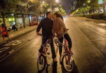 calles cerradas por el Paseo Nocturno en bici