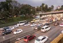 carril reversible en circuito interior