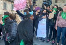 protesta en palacio nacional por feminicidios