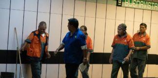 trabajadores del Metro de la tercera edad