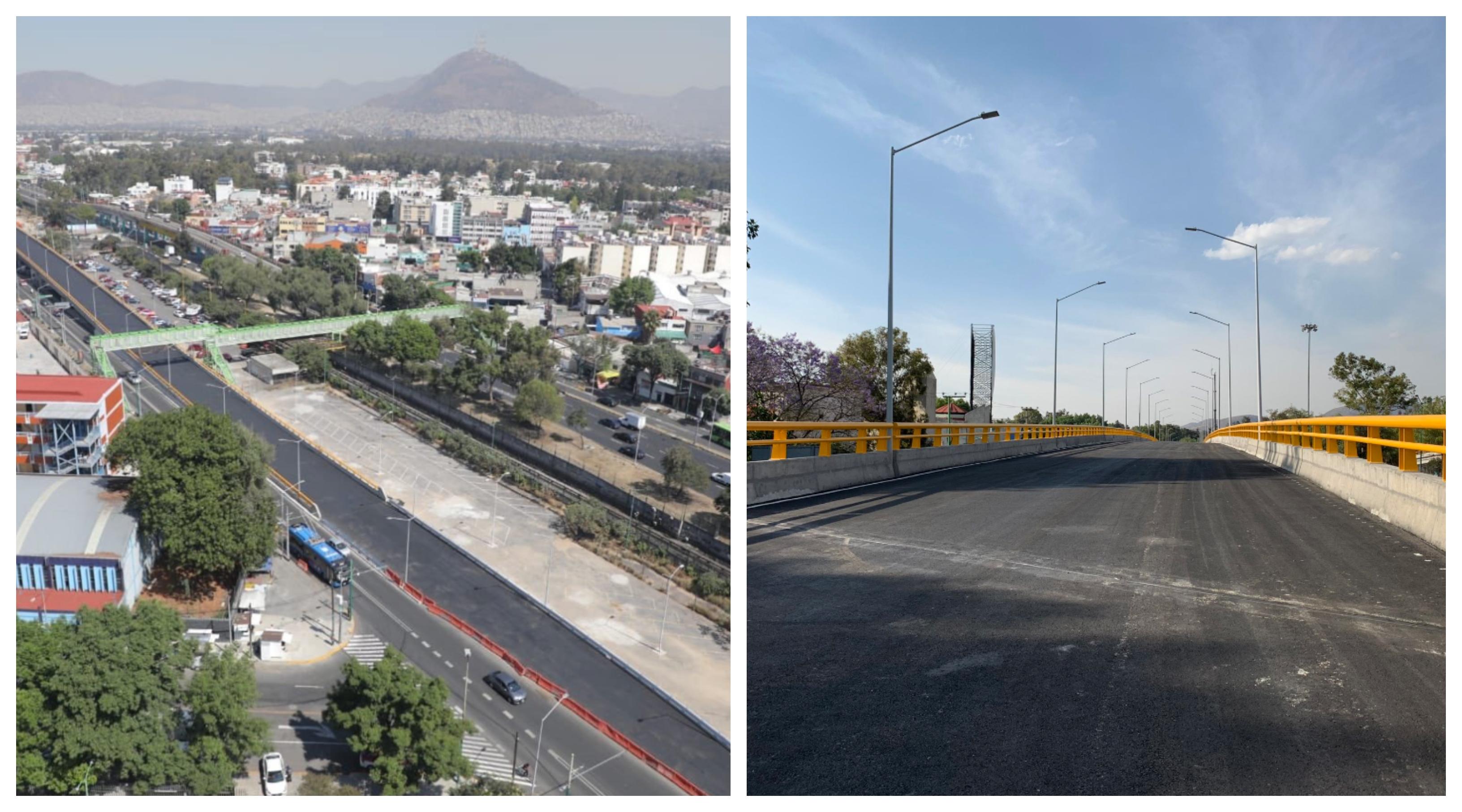 Inauguran puente vehicular en Eje Central y Montevideo
