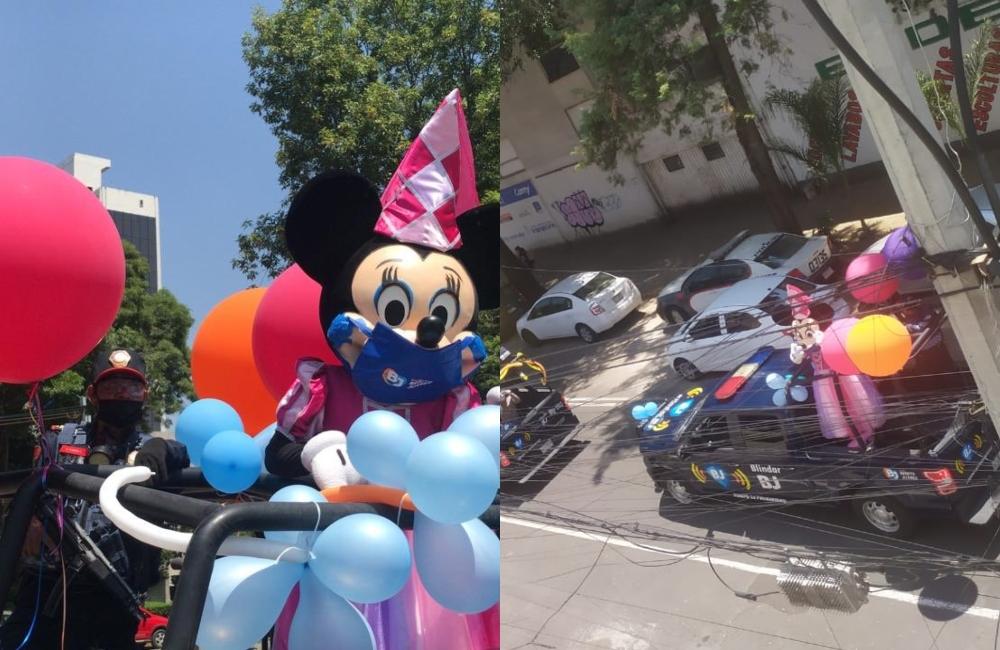 ¿Lo viste? Policías arman mini desfile por el Día del Niño