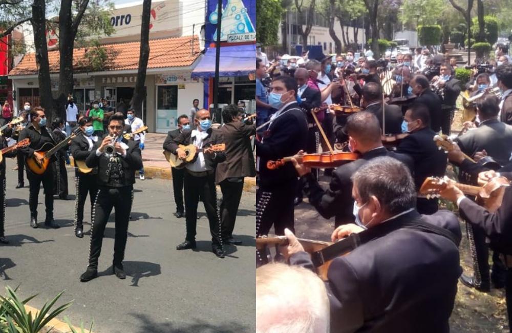 México lindo y querido: mariachis llevan serenata a médicos