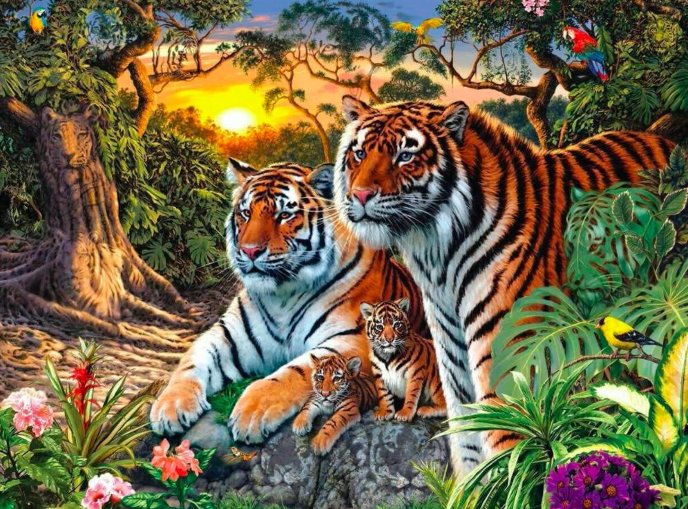 ¿Cuántos tigres ves? Nuevo reto viral