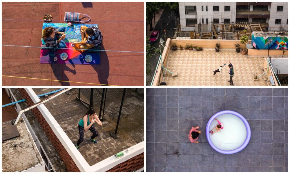 """#Fotos: <i>huyen</i> del encierro… subiendo a la azotea"""" /></a>         </div>         <div class="""