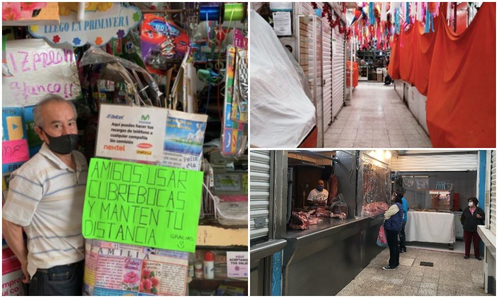 Con pocas ventas y miedo: así resisten los mercados chilangos
