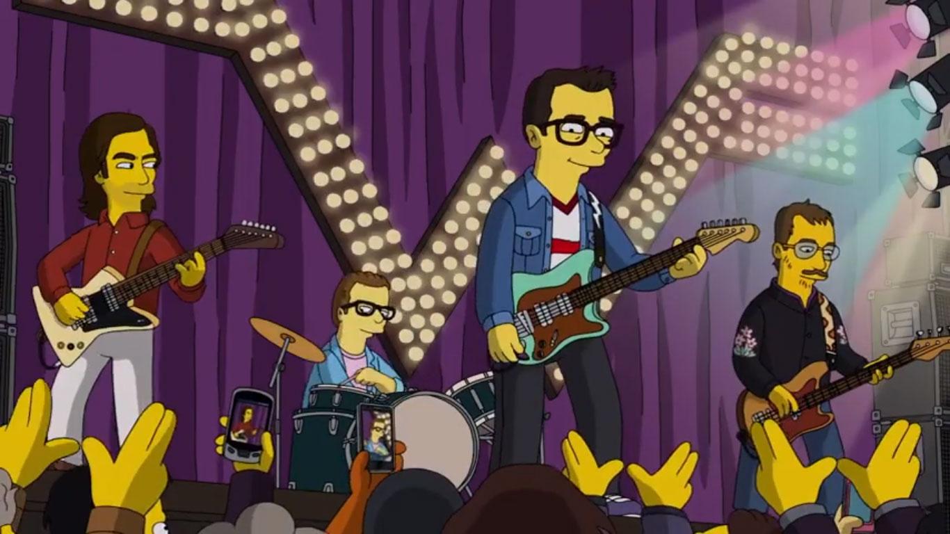 Así suena (y se ve) Weezer en Los Simpsons