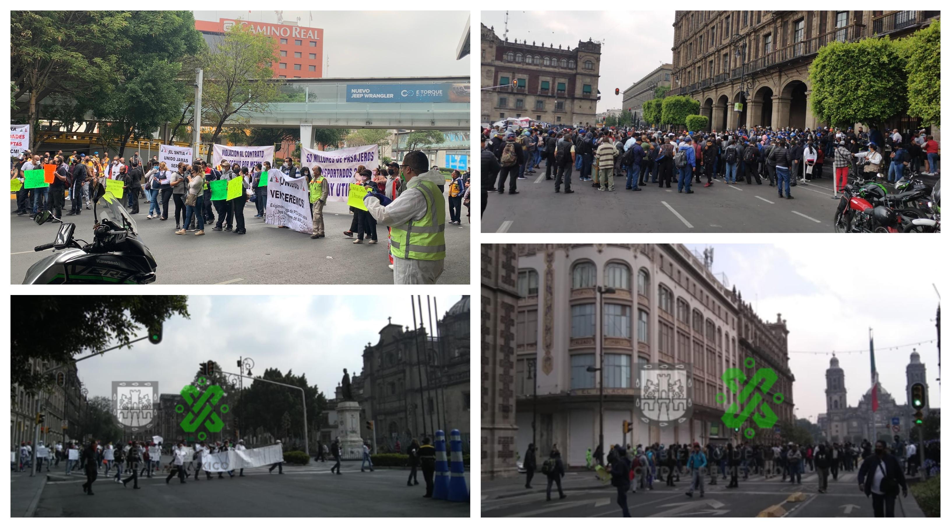 Con marchas y bloqueos: así inicia la nueva normalidad en CDMX