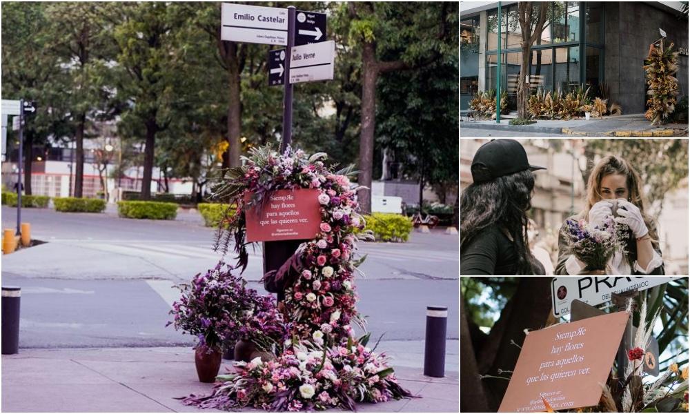 Sofía, la mujer que vandaliza las calles… con flores