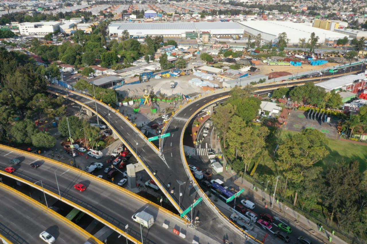 Así quedó el puente de Eje 6 que llega a la Central de Abasto