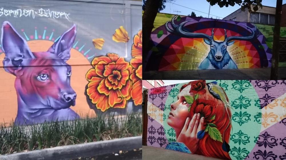 ¡De norte a sur! Mapa de arte urbano en la CDMX