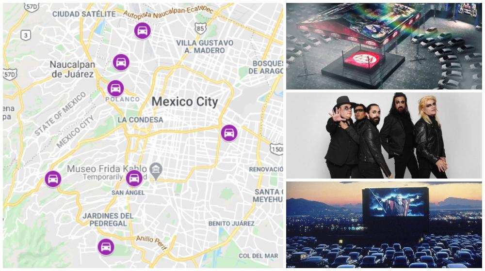Mapa de autoeventos en la CDMX: cine, luchas y conciertos