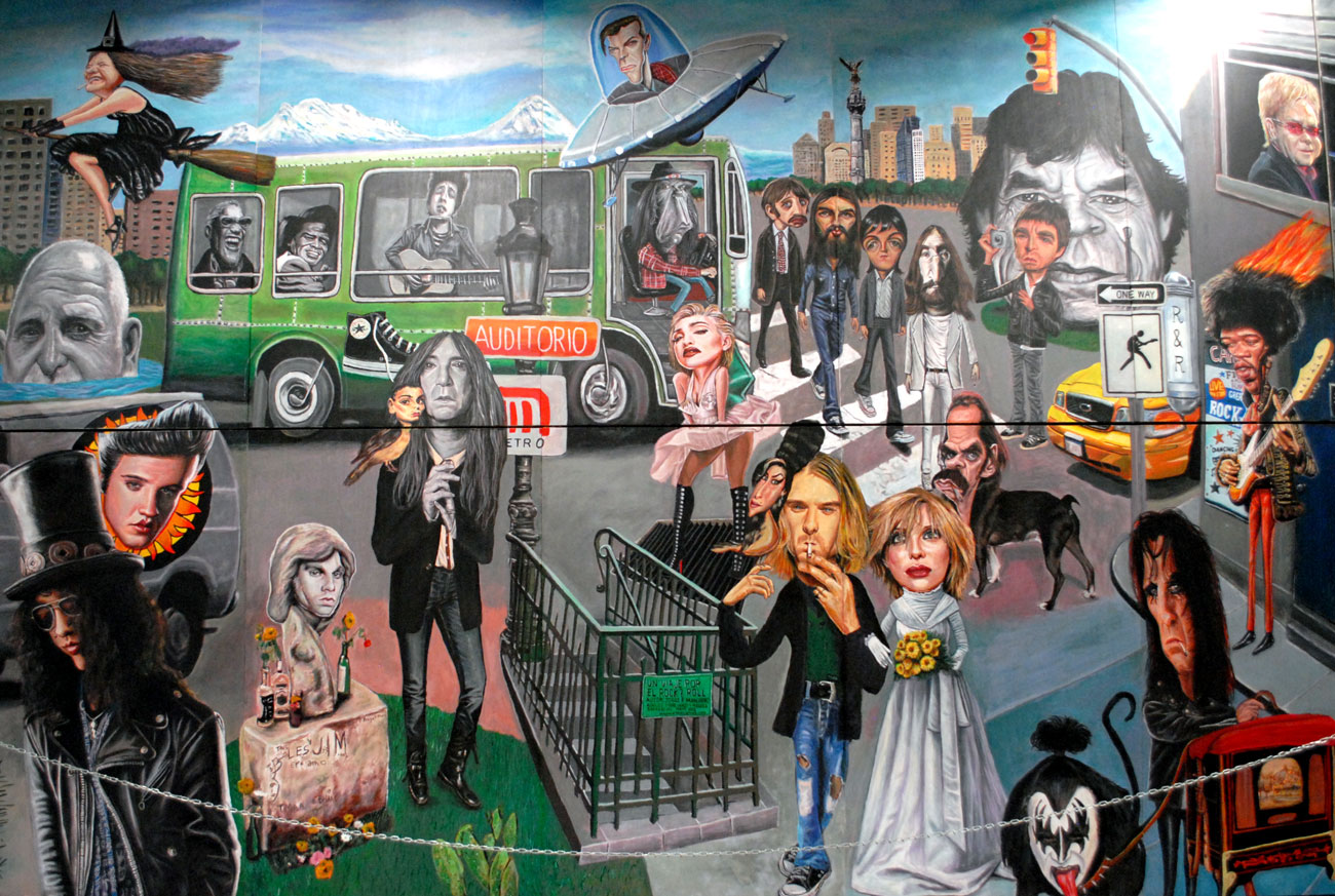 ¿Puedes reconocer a todos los rockeros del mural?#DíadelRock