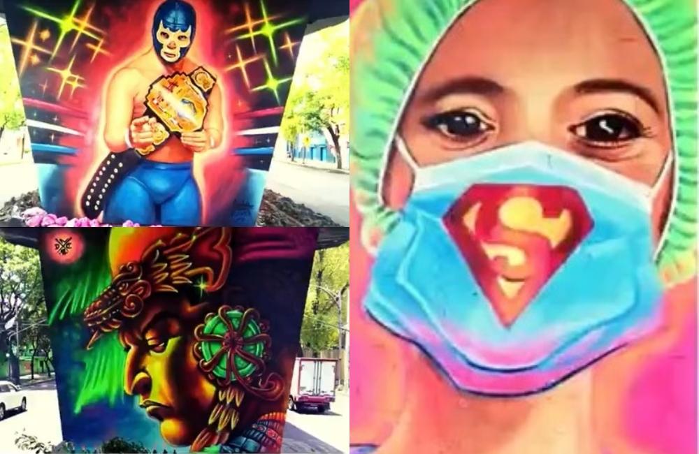 #Fotos: enchulan la avenida Congreso de la Unión con 146 murales