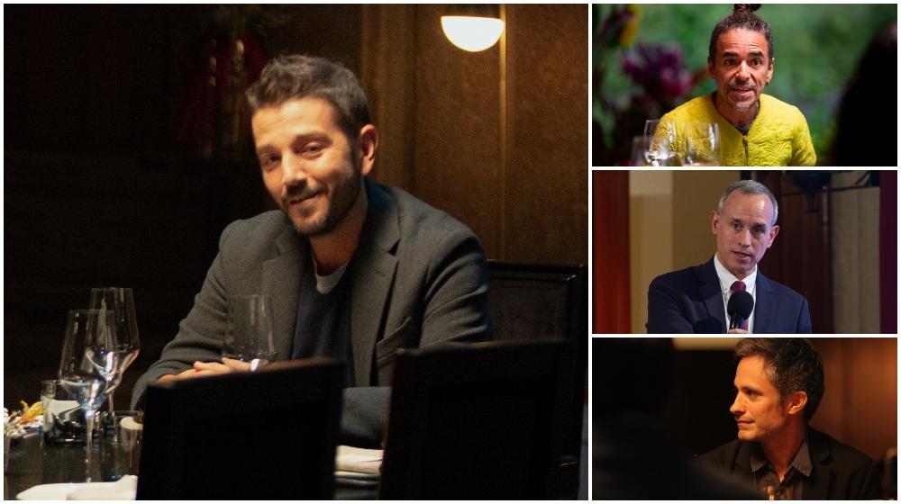 Diego Luna cena con Gatell, Gael García y más en nueva serie