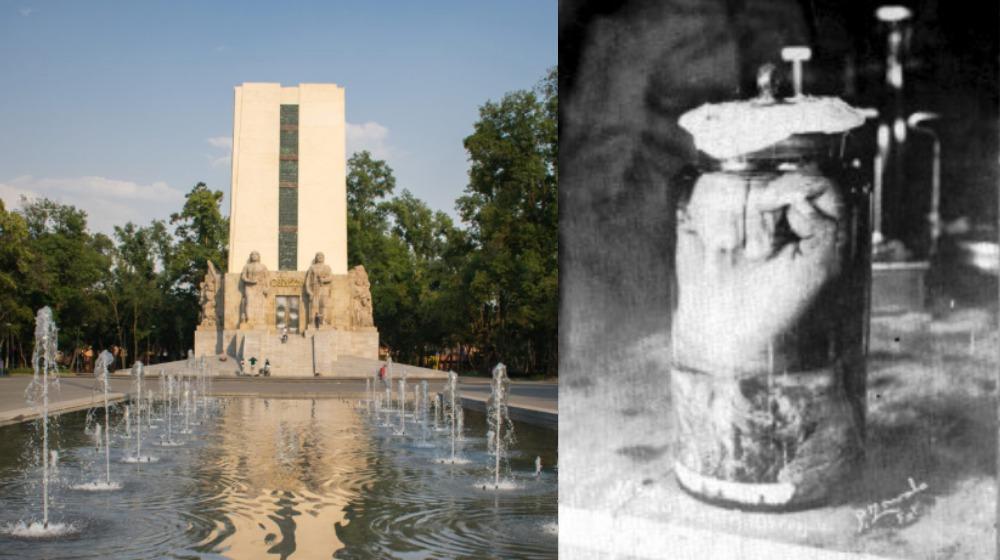 El monumento que exhibió el brazo de Obregón en la CDMX 😱