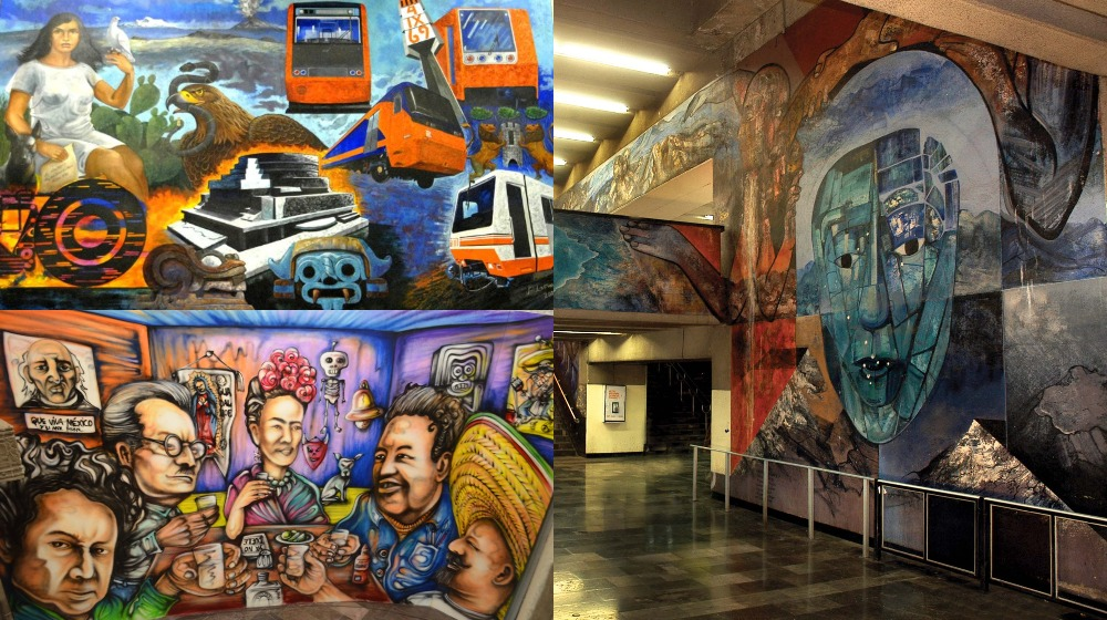 Arte bajo tierra: los murales del metro más sorprendentes