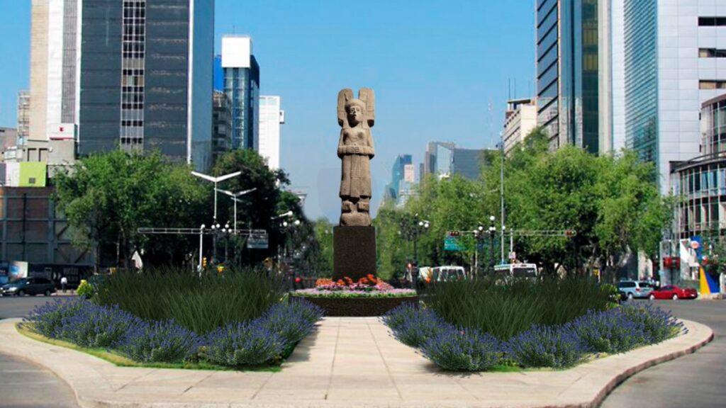 la-escultura-de-la-senora-de-amajac-sustituye-a-colon-en-reforma